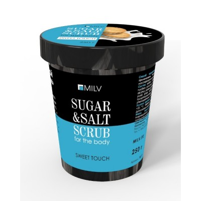 Сахарно-солевой скраб для тела «Печенье». 290 г