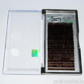 Ресницы на ленте КФест Eva Bond Collection, 20 линий, Ø0,07 D-изгиб, коричневые, MIX