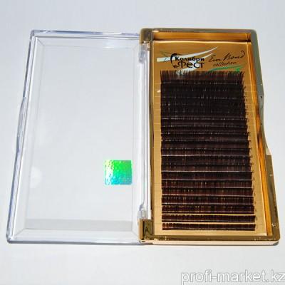 Ресницы на ленте КФест Eva Bond Collection, 20 линий, Ø0,10 CС-изгиб, коричневые, MIX