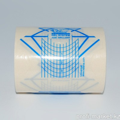 Универсальные формы шаблоны для ногтей GELLIANT Синий+прозрачный 100 шт.