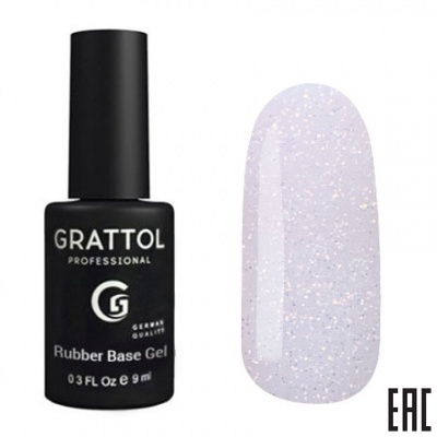 Grattol Rubber Base Glitter 3