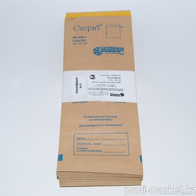 Крафт-пакеты для стерилизации, 100шт Размер 100х250