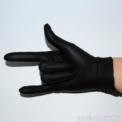 Перчатки нитриловые неопудренные, размер S, 47-50 пар (05 Черные)