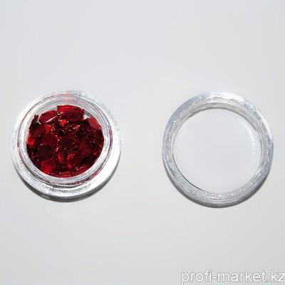 Декор фольгированный (03 Яблоко красное голография)