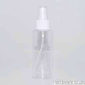 Ф20-017 Бутылочка пластик прозрачная с распылителем, 100 мл