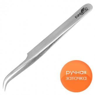 Пинцет для ресниц C-1, длина 11,5см  серебристый (ручная заточка)