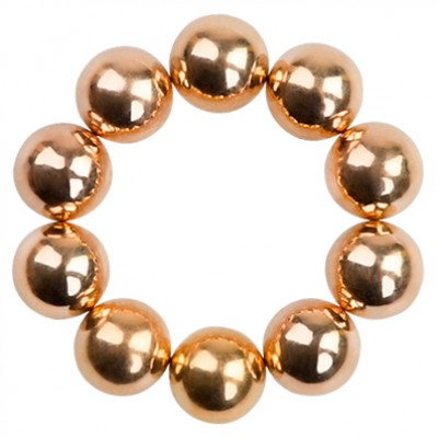 Набор магнитных шариков для дизайна гель-лаком Кошачий глаз, 10 шт. (04 Бронза)