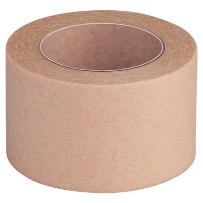 Скотч безворсовый бежевый на бумажной основе широкий, 10м