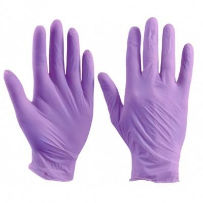Перчатки NitriMAX (блок)  ЛИЛОВЫЕ - L, 50 пар