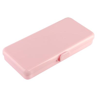 Пенал пластиковый для кистей и пилок, 190х90х30мм (02 Розовый)