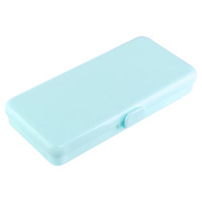 Пенал пластиковый для кистей и пилок, 190х90х30мм (04 Голубой)