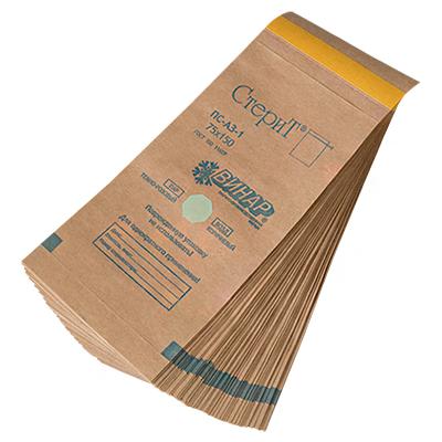Пакеты для стерилизации из крафт-бумаги, 100шт. (03 Размер 75 х 150 мм.)