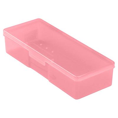 Бокс пластиковый для кистей и инструментов, 190х70х40мм (02 Розовый)