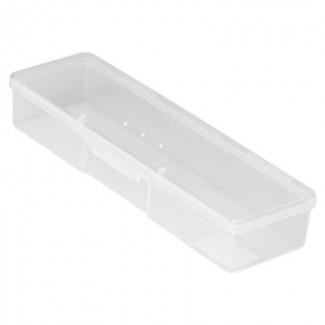 Бокс пластиковый для кистей и инструментов, 185х55х30мм (01 Прозрачный)