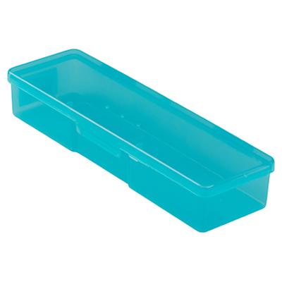 Бокс пластиковый для кистей и инструментов, 185х55х30мм (03 Голубой)