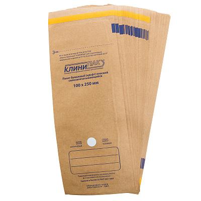 Пакеты для стерилизации из крафт бумаги 100шт. NEW (02 Размер 100 х 250 мм)