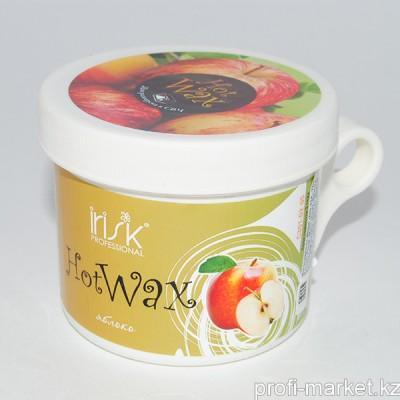 Горячий воск в баночке для разогрева в СВЧ Green Apple (зеленое яблоко), 100 гр