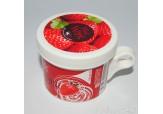 Горячий воск в баночке для разогрева в СВЧ Strawberry (клубника), 100 гр