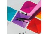 """Р105-00-02 Пинцет для ресниц изогнутый """"IRISK"""", длина 12,5 см (розовый)"""
