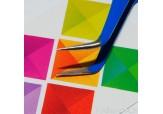 """Р105-00-04 Пинцет для ресниц изогнутый """"IRISK"""", длина 12,5 см (голубой)"""