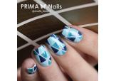 """Трафарет для дизайна ногтей PrimaNails. Орнамент """"Треугольники"""""""
