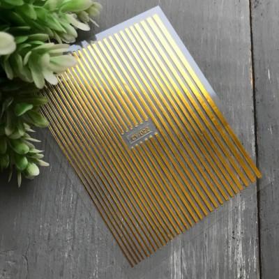 3D наклейки полосы GOLD