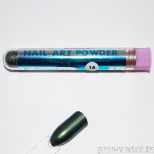 Декоративная пудра для ногтей Mirror chrome powder Velena 2г #016 Оливковый фиолет