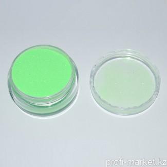 Бархатный песок светло-зелёный. Баночка 7,5 гр.