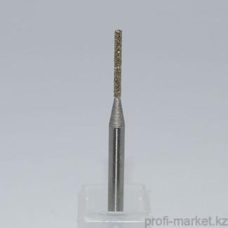 Насадка алмазная цилиндрическая тонкая, синяя (средняя зернистость) Ø 0,10