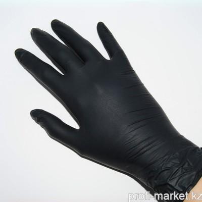 Перчатки mediOK (Nitrile) нитриловые , неопудреные, черные, размер S, 50 пар