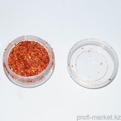 Слюда рубленая, оранжевый