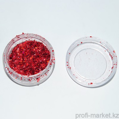 Слюда рубленая, красный