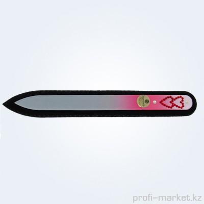 Пилка с цветной ручкой и крист. Сердечки 135 мм