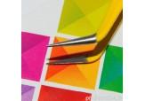 """Р105-00-06 Пинцет для ресниц изогнутый """"IRISK"""", длина 12,5 см (желтый)"""