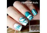 Трафарет для дизайна ногтей PrimaNails. Кружева