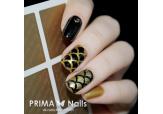 Трафарет для дизайна ногтей PrimaNails. Русалка (средний)