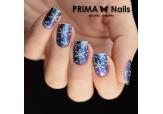 Трафарет для дизайна ногтей PrimaNails. Снежинки