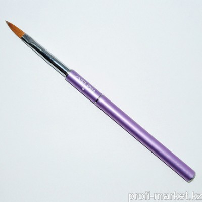 Кисть для дизайна акрилом Premium Metallic violet Kollinsky Nail Art coll. VELENA #6 K натуральная