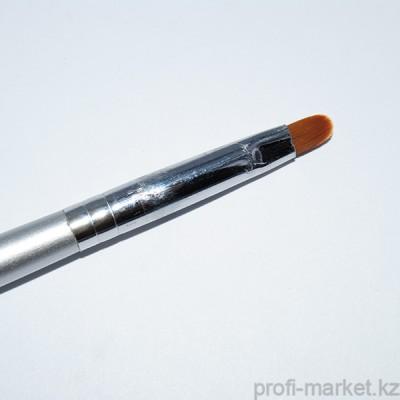 Кисть для геля искусственный ворс, с деревянной ручкой овал ВО №4 NEW