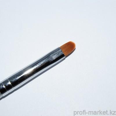 Кисть для геля искусственный ворс, с деревянной ручкой овал ВО №6 NEW